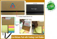 Eco Stickon Pad with Card Holder